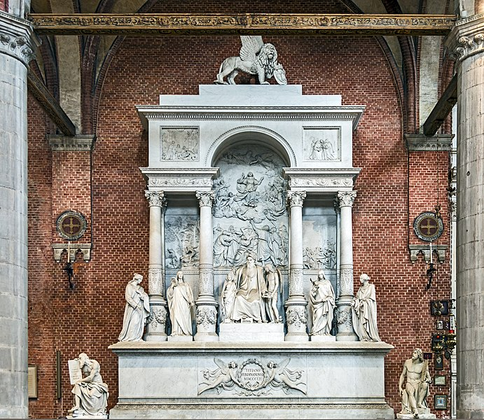 Файл:Frari (Venice) nave right - Monument of Titian.jpg