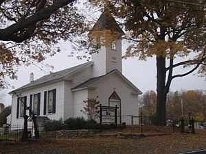 Liberty Township, New Jersey - Free Union Church from Marble Hill Road