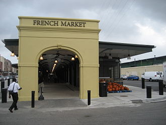 French Market - Image: French Market Arch Pumpkins 6Oct 2008