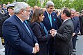 French President Hollande Greets Secretary Kerry After 70th Anniversary VE Day Commemoration in Paris (17422482642).jpg
