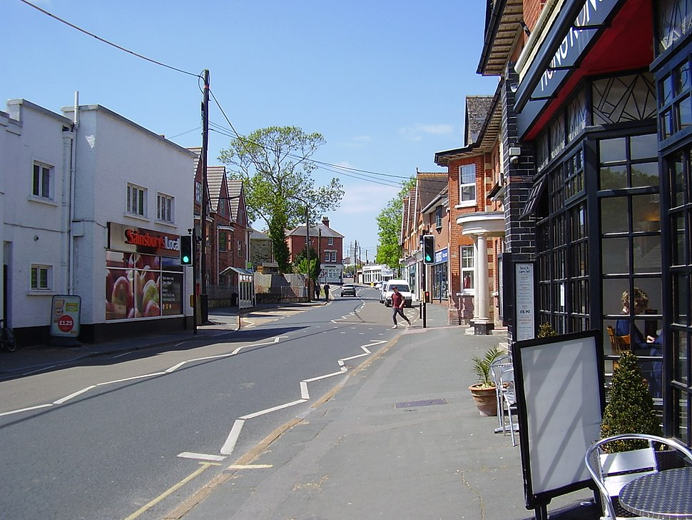 Freshwater town centre, IW, UK