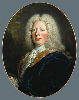Frederik August Rutowski, portret van Nicolas de Largillière, omstreeks 1729, Detroit Institute of Arts.