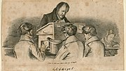 Hegel with students Lithograph by F. Kugler