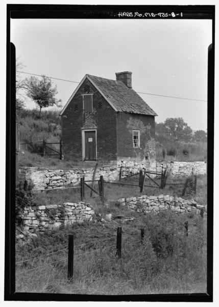 File:Front view of kitchen - Joseph Sherrick Farm, Summer Kitchen, Burnside Bridge Road (Rural Route 1), Sharpsburg, Washington County, MD HABS MD,22-SHARP.V,3B-1.tif