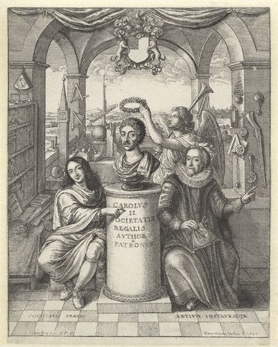 Frontispiece to 'The History of the Royal-Society of London'