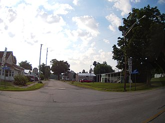Liberty Township, Fulton County, Indiana - Intersection of Highway 25 and Center Street in Fulton