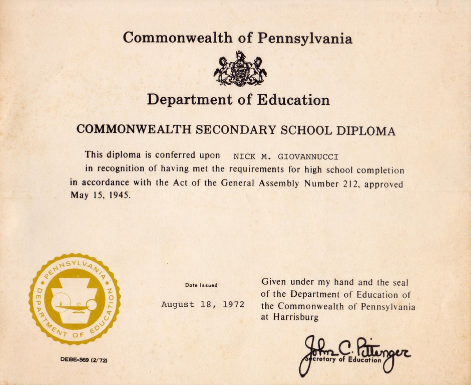 Fileged Diploma With Instructions Pennsylvania 1972pdf Wikimedia