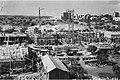 """GENERAL VIEW OF THE Y.M.C.A. CONSTRUCTION SITE, IN JERUSALEM. מראה כללי של אתר בניית בניין ימק""""א בירושלים.D635-120.jpg"""
