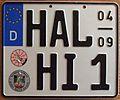 GERMANY, HALLE APRIL-SEPTEMBER 2005 -SEASONAL MOTORCYCLE PLATE - Flickr - woody1778a.jpg