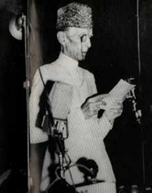 Muhammad Ali Jinnah's 11 August Speech - Quaid-e-Azam Muhammad Ali Jinnah delivering the opening address to the Constitutional Assembly on 11 August 1947