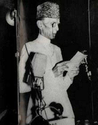 Constituent Assembly of Pakistan - Jinnah responding to Mountbatten's address in the Constituent Assembly of Pakistan, August 14, 1947