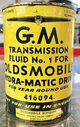 "Automatic transmission fluid - 1940 GM Hydra-Matic Automatic Transmission ""Fluid"""