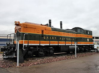 Whitefish station - Great Northern Engine in Whitefish