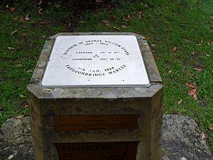 George Evans (explorer) - Image: G W EVANS marker top