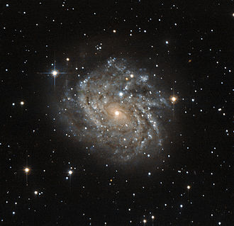 Dorado - LEDA 89996 is a classic example of a spiral galaxy.