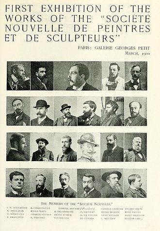 Georges Petit - March 1900 Announcement in The Studio of the First Exhibition of the Société Nouvelle de Peintres et de Sculpteurs at the Galerie Georges Petit in Paris.