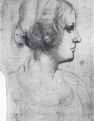 Cecilia Gallerani - Drawing of Gallerani by Leonardo.