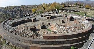 Garni - Image: Garni Fortress, Ruins of Surb Sion Church