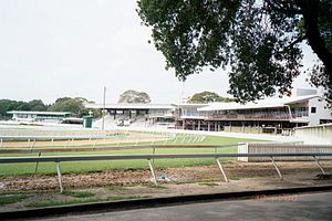 Garrison Savannah Racetrack - Image: Garrison Savannah stands, Barbados