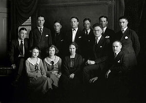 Gary Cooper - Cooper at Grinnell College (top row, second from the left), 1922
