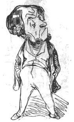 Jean-Élie Gautier - Caricature of Gautier as Minister of Finance (La Mode, 6 April 1839)