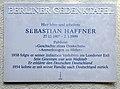 Gedenktafel Ehrenbergstr 33 (Dahl) Sebastian Haffner.JPG