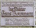 Gedenktafel Klingsorstr 27 (Stegl) Hans Benzmann.JPG