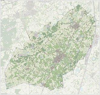Zundert - Topographic map of Zundert, Sept. 2014