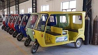 Electric rickshaw - E-Rickshaw India in fiberglass