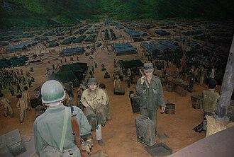 Geoje prison camp - Geoje prison camp diorama