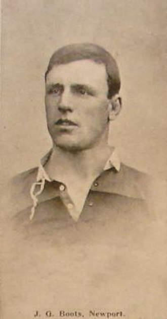 George Boots - Boots in his Newport jersey