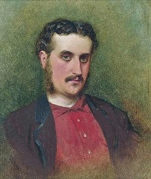 George Elgar Hicks - Self portrait (George Elgar Hicks, 1862)