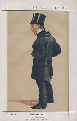 George Leeman - A caricature of Leeman in Vanity Fair in 1872