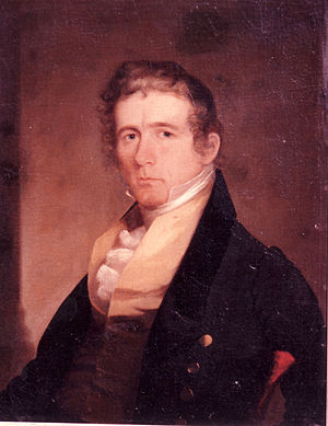 George C. Sibley - Painting of George Sibley by Chester Harding c1830s