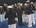 George W. Bush with US Olympic Team prior to 2008 Summer Olympics opening ceremony 2.jpg