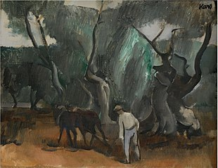 Man with Horses (Ploughing)