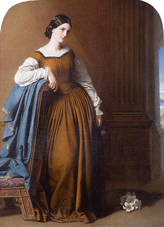 George Glyn, 2nd Baron Wolverton - Georgiana Maria Tufnell (Robert Thorburn)