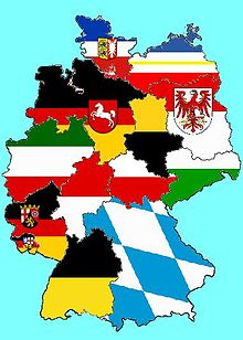 a map of germany showing all the state flags