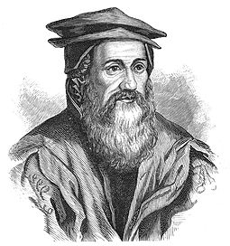 Conrad Gesner (1516-1565). His Historiae animalium is considered the beginning of modern zoology. Gessner Conrad 1516-1565.jpg