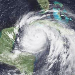 Hurricane Gilbert - click to enlarge