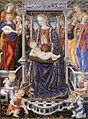 Giovanni di Piermatteo Boccati - Madonna and Child Enthroned with Music-Making Angels - WGA02325.jpg