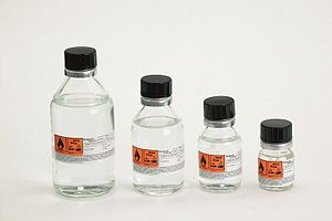 Organolithium reagent - Glass bottles containing butyllithium
