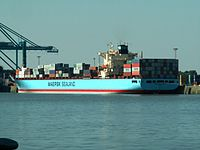 Glasgow Maersk - IMO 9193240 at Port of Antwerp, Belgium 19-Sep-2005.jpg