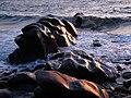 Glen Maye, beach, evening sunlight - geograph.org.uk - 777900.jpg
