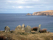 Glengad Stone circle overlooking Broadhaven Bay Kilcommon, Erris North Mayo