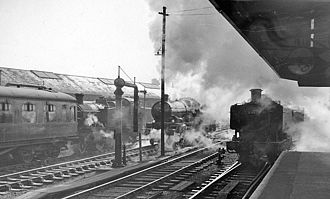 Gloucester railway station - The station in 1962