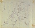 God The Father Creating (?) (r.); Study of neo-classical statue of a nude male (v.) MET 1998.406.3b.jpg
