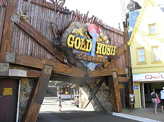 Town of Gold Rush - The entrance to Gold Rush Country before saw added for Buzz Saw