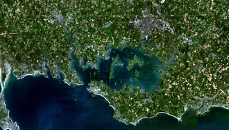 Gulf of Morbihan - Satellite image