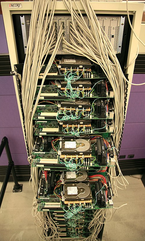 First corkboard production server by Google in 1998